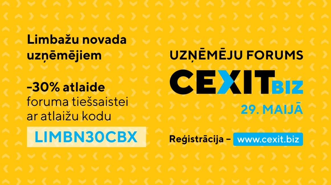 """Aicinām Limbažu novada uzņēmējus piedalīties forumā """"CexitBiz"""""""